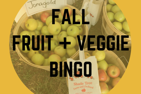 fall fruit and veggie bingo